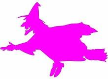 Hexe Aufkleber 002, 50 cm, pink