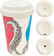 heyholi Coffee-to-Go Becher aus Bambus mit