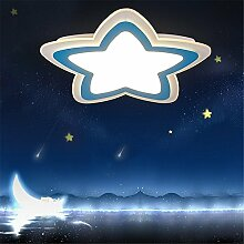 HEYUN& Fern Versprechen Dimmen LED-Acryl-Deckenleuchte ultra-dünnen Jungen und Mädchen Kinderzimmer Schlafzimmerlampe kreative Karikatur Lampe D52 * H4 (cm) [Energieklasse A ++] ( Color : Blau )