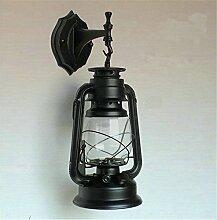 HEYUN Retro Wandlampe Eisen Works nostalgische