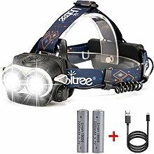 HFAN zoombare LED-Stirnlampe / Kopf-Scheinwerfer,