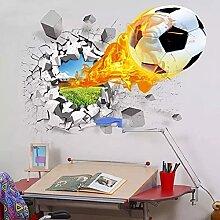 HFDHFH 3D Fußball kaputt wandaufkleber