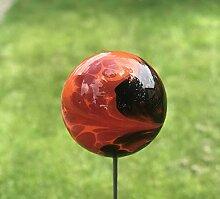 HFG Gartendeko Glas-Kugel inkl. Edelstahlstab,