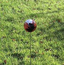 HFG Rosenkugel auf Stab etna D 12 cm Gartenstecker