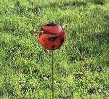 HFG Rosenkugel auf Stab Lava D 12 cm Gartenstecker