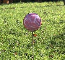 HFG Rosenkugel auf Stab Malve D 12 cm