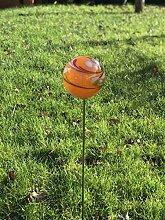 HFG Rosenkugel auf Stab orange D 10 cm