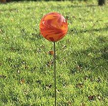 HFG Rosenkugel auf Stab red D 10 cm Gartenstecker