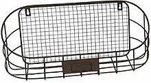 HFG Wandkorb Metall dunkelrostfarben Breite 46 cm