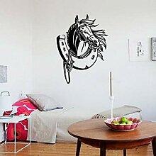 HFWYF Pferdekopf wandaufkleber Wohnzimmer