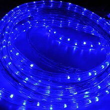 HG® 10m LED Lichtschlauch Lichterkette Lichterschlauch Dekolicht Fensterbeleuchtung für Außen&Innen Weihnachten Dekoration Hochzeit mit controller Blau