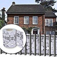 HG® 35mx19cm Sichtschutz Streifen PVC Rolle Multifunktionen verschiedene inkl. Befestigungsclips für den Gartenzaun oder Balkon Stabmattenzaun