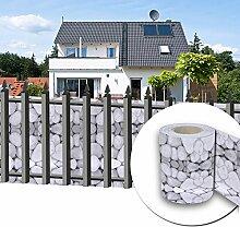 HG® 65mx19cm Sichtschutz Streifen PVC Rolle Multifunktionen verschiedene inkl. Befestigungsclips für den Gartenzaun oder Balkon Stabmattenzaun