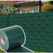 HG® 65mx19cm Sichtschutzfolie Gartenzaun Zaunfolie PVC Rolle Windschutz für Einzel- und Doppelstabmatten geeigne