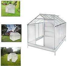 HG® Gartenhaus Aluminium Gewächshaus Tomatenhaus Gartenfreude schnelle Montage mit Schutzhülle inkl. verzinktem Stahlfundamen