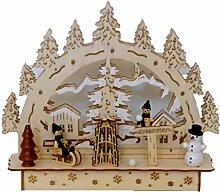 HGD Adventskranz Fensterleuchte, Holz, Holz,