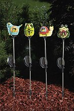 HGD CS34-001-4 Gartenstecker,Solar im 4er Set,