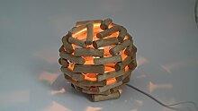 HGD Holzkugel Lampe elektrisch beleuchtet, Holz,