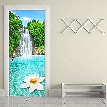 HGFHGD Fototapete 3D Wasserfall Blume Landschaft