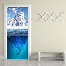 HGFHGD Moderne Eisberg Fototapete Wohnzimmer