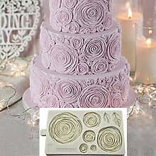 HGFJG 3D Rose Flower Cake Border Silikonform