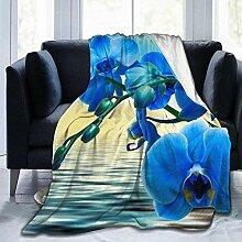 HGGZJUA Deckes,Elegante Lila Tulpe Blume Werfen