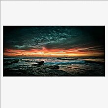 HGLLL Wandkunst Bilder Meer Sonnenuntergang Poster