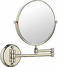 HHAOH Badezimmer Doppelseitiger Kosmetikspiegel -