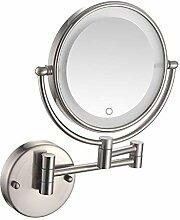 HHAOH LED Beleuchtete Wandhalterung Makeup Mirror