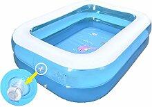 HHBO Aufblasbare Schwimmbecken Haushalt Bad aufblasbare Baby-Badewanne Pool, gr¨¹n, medium