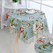 HHCQY Luxus kleine Runde Tischdecke Gartentisch