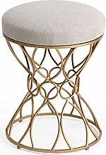 HHCS Europäischen Stil Schminktisch Hocker Mode Stoff Make-up Hocker Hocker Ändern seiner Schuhe Kreative amerikanische minimalistische Make-up Stuhl Schmiedeeisen Vanity Hocker Hocker & Stühle ( Farbe : G )