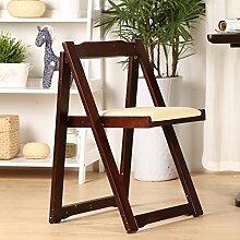 HHCS Massivholz Esszimmerstuhl Moderne Minimalistische Rückenlehne Stuhl Wohnmöbel Tische Und Stühle Mode Klapptisch Stühle Holz Klappstühle (43,5 * 37 * 75 cm) Hocker & Stühle ( Farbe : F )