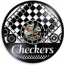 HHCUIJ Schallplatte Wanduhr 1 Stück Checkers