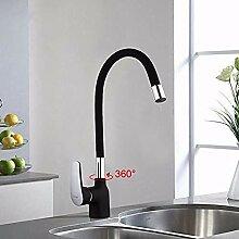 HHCUIJ Wasserhahn Business Style Black Silica Gel