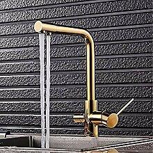 HHCUIJ Wasserhahn Gold/Schwarz Küchenarmatur