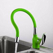 HHCUIJ Wasserhahn Grün Silica Gel Nase Any