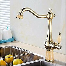 HHCUIJ Wasserhahn Küchenarmaturen Messing mit