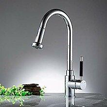HHCUIJ Wasserhahn Küchenarmaturen Silber Einzigen