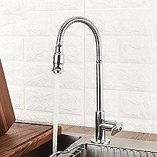 HHCUIJ Wasserhahn Messing Küchenmischer Single