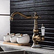 HHCUIJ Wasserhahn Rotation Küchenarmatur Messing