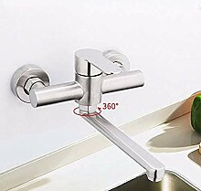 HHCUIJ Wasserhahn Wandmontage Küchenarmatur