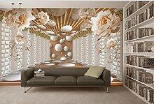 HHCYY 3D Tapete Pfingstrose Blumen Römische
