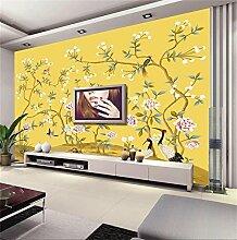 Hhcyy 3D Tapete Vliestapete Handgemalte Blumen