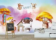 HHCYY Benutzerdefinierte Tapete Tier Kinder Zimmer
