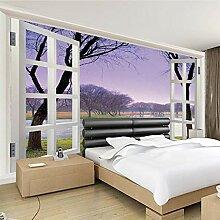 HHCYY Lila Rahmen Fenster Landschaft Landschaft 3d