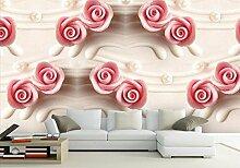 HHCYY Luxus Wandbild Rosen Wohnzimmer Tapete 3D
