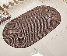 HhGold Boden Teppich Teppich gewebt Seil Oval