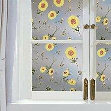 HhGold Farbe Fenster Papier, Glas Aufkleber Bad