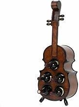 HhGold Massivholz Kreative Violine Weinregal